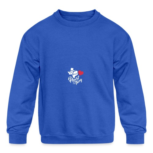 It's a Heart Thing Texas - Kid's Crewneck Sweatshirt