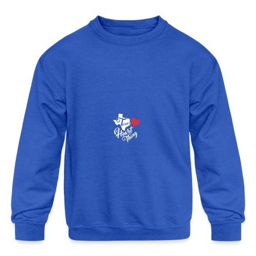It's a Heart Thing Texas - Kids' Crewneck Sweatshirt