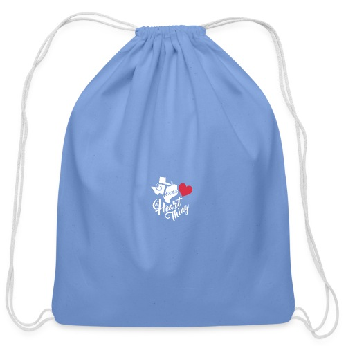 It's a Heart Thing Texas - Cotton Drawstring Bag