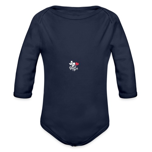 It's a Heart Thing Texas - Organic Long Sleeve Baby Bodysuit