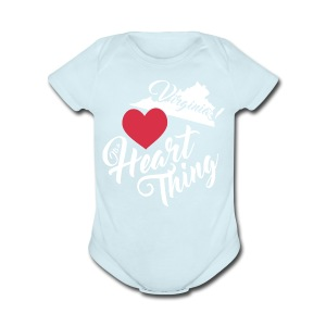 It's a Heart Thing Virginia - Short Sleeve Baby Bodysuit