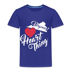 It's a Heart Thing Virginia - Toddler Premium T-Shirt