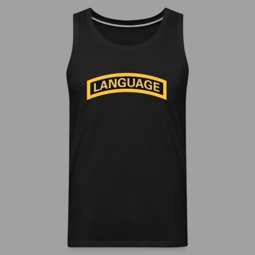 Next Level Language Tab Tee - Men's Premium Tank