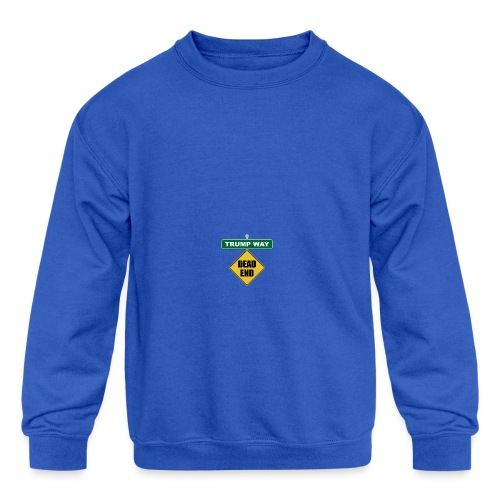 Anti-Trump Dead End - Kids' Crewneck Sweatshirt