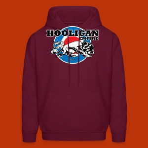 Hooligan Mod Burgandy - Men's Hoodie