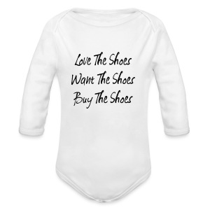 Love The Shoes - Long Sleeve Baby Bodysuit