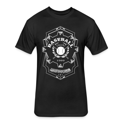 Baseball Badge - Fitted Cotton/Poly T-Shirt by Next Level