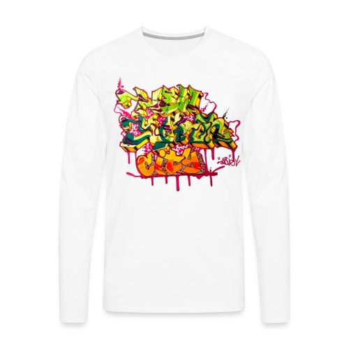 POVE - Design for New York Graffiti Color Logo - Men's Premium Long Sleeve T-Shirt