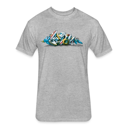 Phame Design for New York Graffiti  - 3D Style - Fitted Cotton/Poly T-Shirt by Next Level