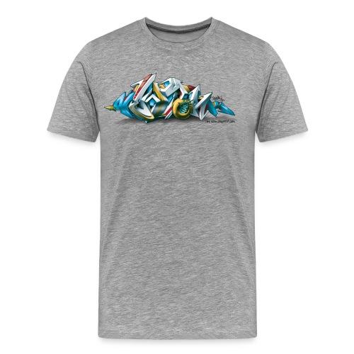 Phame Design for New York Graffiti  - 3D Style - Men's Premium T-Shirt
