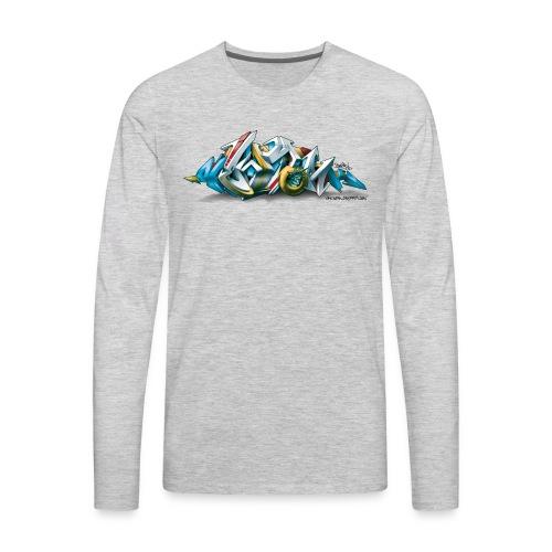 Phame Design for New York Graffiti  - 3D Style - Men's Premium Long Sleeve T-Shirt