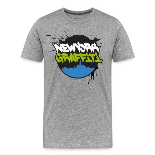 VERS - Design for New York Graffiti Color Logo - Men's Premium T-Shirt