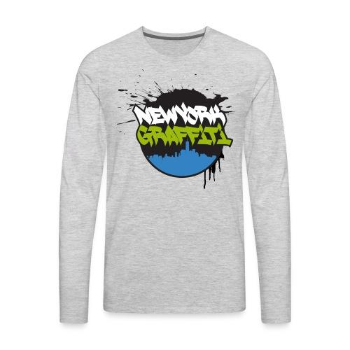VERS - Design for New York Graffiti Color Logo - Men's Premium Long Sleeve T-Shirt