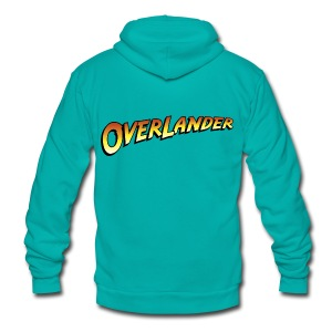 Overlander - Unisex Fleece Zip Hoodie by American Apparel