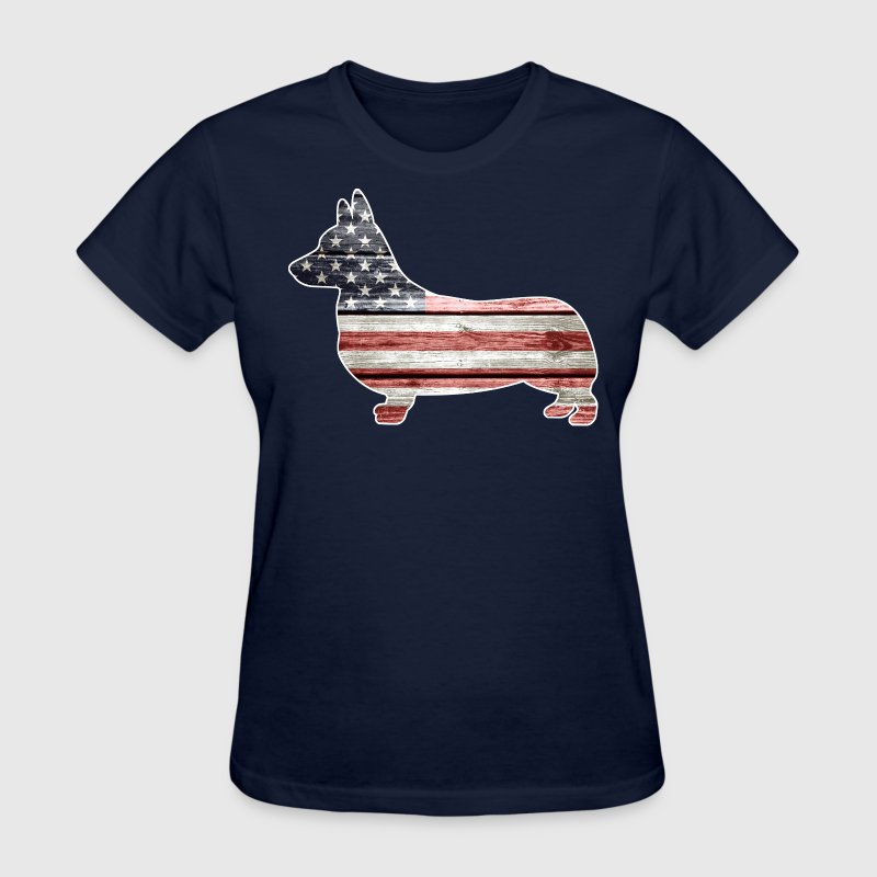 Patriotic Corgi - Women's T-Shirt