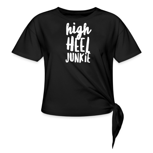 HHJ-White Women's T-Shirts - Women's Knotted T-Shirt