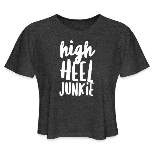 HHJ-White Women's T-Shirts - Women's Cropped T-Shirt