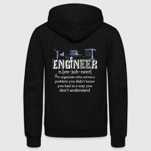 Engineer-Who solves a problem you don't know - Unisex Fleece Zip Hoodie by American Apparel