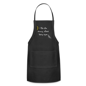 I Like the Strong Silent Hairy Type - Adjustable Apron