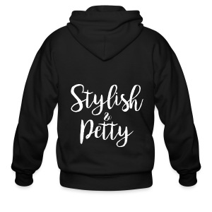 Stylish & Petty Tote - Men's Zip Hoodie