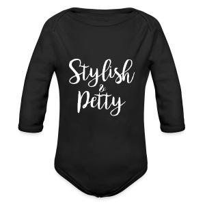Stylish & Petty Tote - Long Sleeve Baby Bodysuit