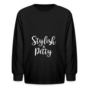 Stylish & Petty Tote - Kids' Long Sleeve T-Shirt