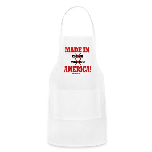 Made in America Ladies Tshirt White/Red/Blue - Adjustable Apron