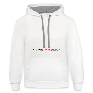 Don't Forget Trans Dads - Contrast Hoodie