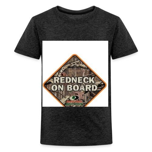 Redneck on Board Decal - Kids' Premium T-Shirt