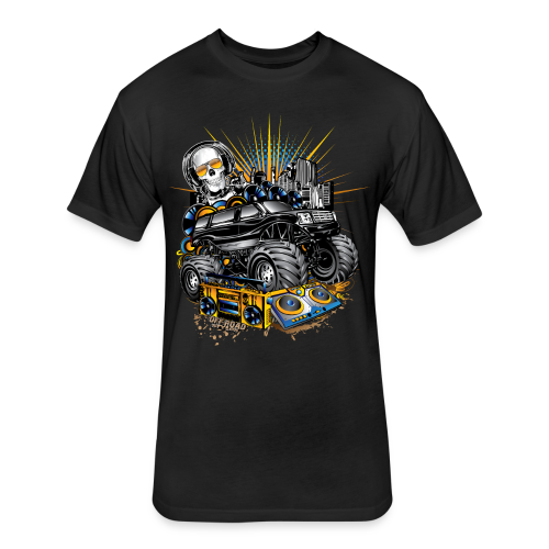 Monster Cadillac Escalade - Fitted Cotton/Poly T-Shirt by Next Level