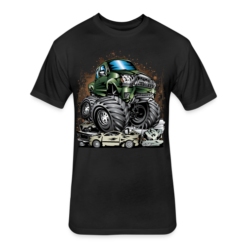 Tacoma Monster Truck Green - Fitted Cotton/Poly T-Shirt by Next Level