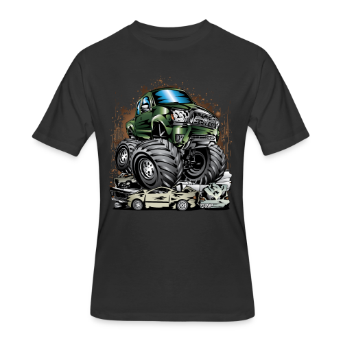 Tacoma Monster Truck Green - Men's 50/50 T-Shirt