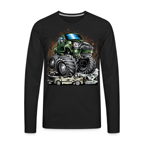 Tacoma Monster Truck Green - Men's Premium Long Sleeve T-Shirt