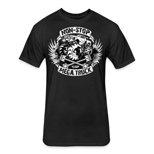 Non-Stop Mud Truck Shirt - Fitted Cotton/Poly T-Shirt by Next Level