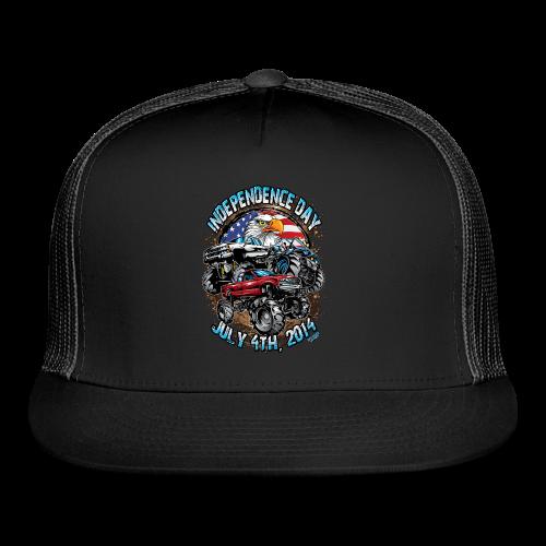 4th of july mud trucks - Trucker Cap