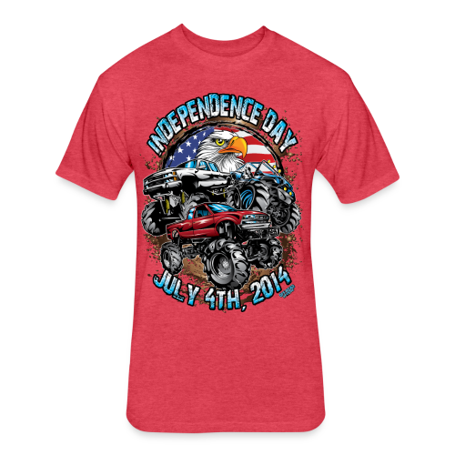 4th of july mud trucks - Fitted Cotton/Poly T-Shirt by Next Level