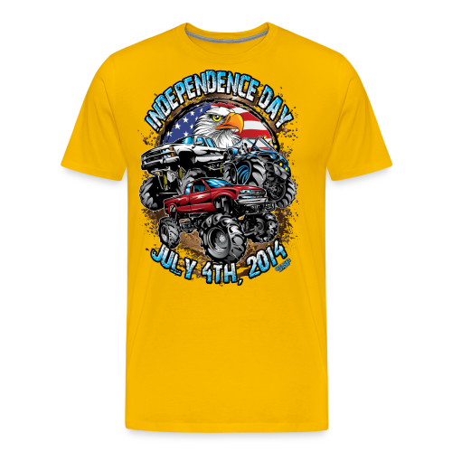 4th of july mud trucks - Men's Premium T-Shirt
