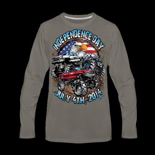 4th of july mud trucks - Men's Premium Long Sleeve T-Shirt
