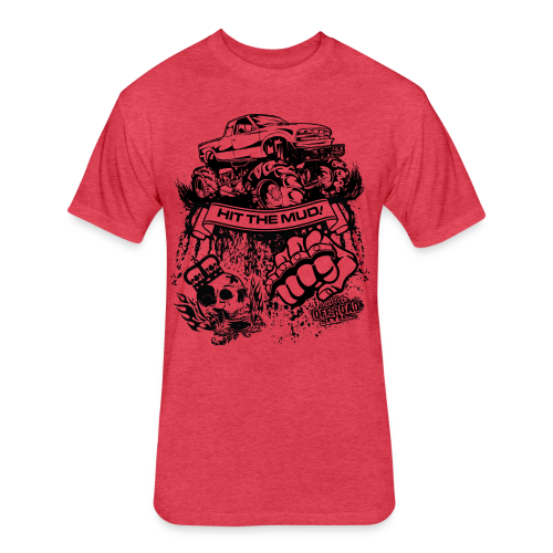 Off-Road Mud Truck - Fitted Cotton/Poly T-Shirt by Next Level
