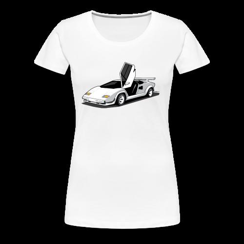 Lamborghini Countach - Women's Premium T-Shirt