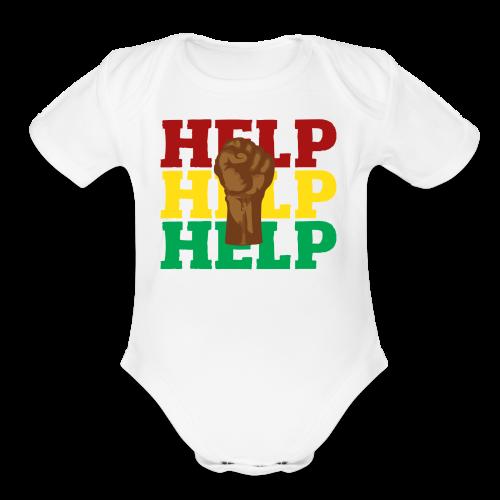 BLM-H2K - Organic Short Sleeve Baby Bodysuit
