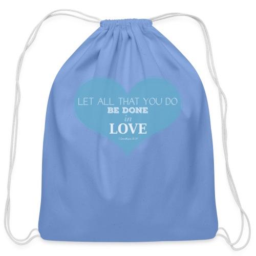 Blue Love T-Shirts - Cotton Drawstring Bag
