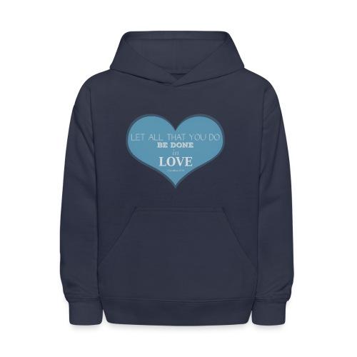 Blue Love T-Shirts - Kids' Hoodie