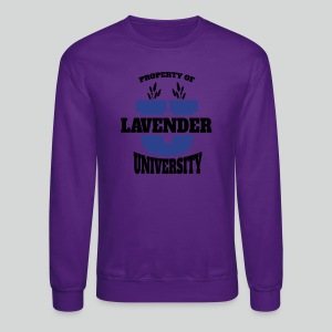 Women's T Shirt: Lavender University - Crewneck Sweatshirt
