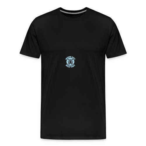 Work Out Help Out Hat - Men's Premium T-Shirt