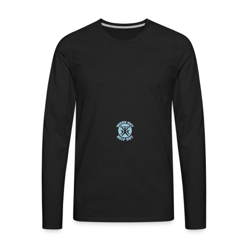 Work Out Help Out Hat - Men's Premium Long Sleeve T-Shirt