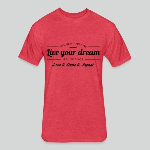 Men's T Shirt: Live Your Dreams - Fitted Cotton/Poly T-Shirt by Next Level