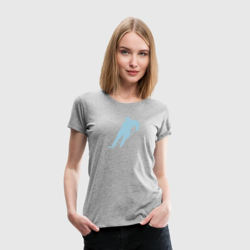 ice hockey player 506 T-Shirts - Women's Premium T-Shirt