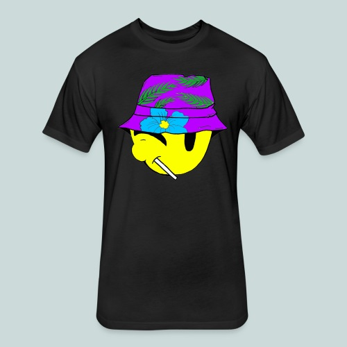 Floral 1's Purple Breeze - Fitted Cotton/Poly T-Shirt by Next Level