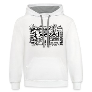 Men's Blessed Multi3 - Light - Contrast Hoodie